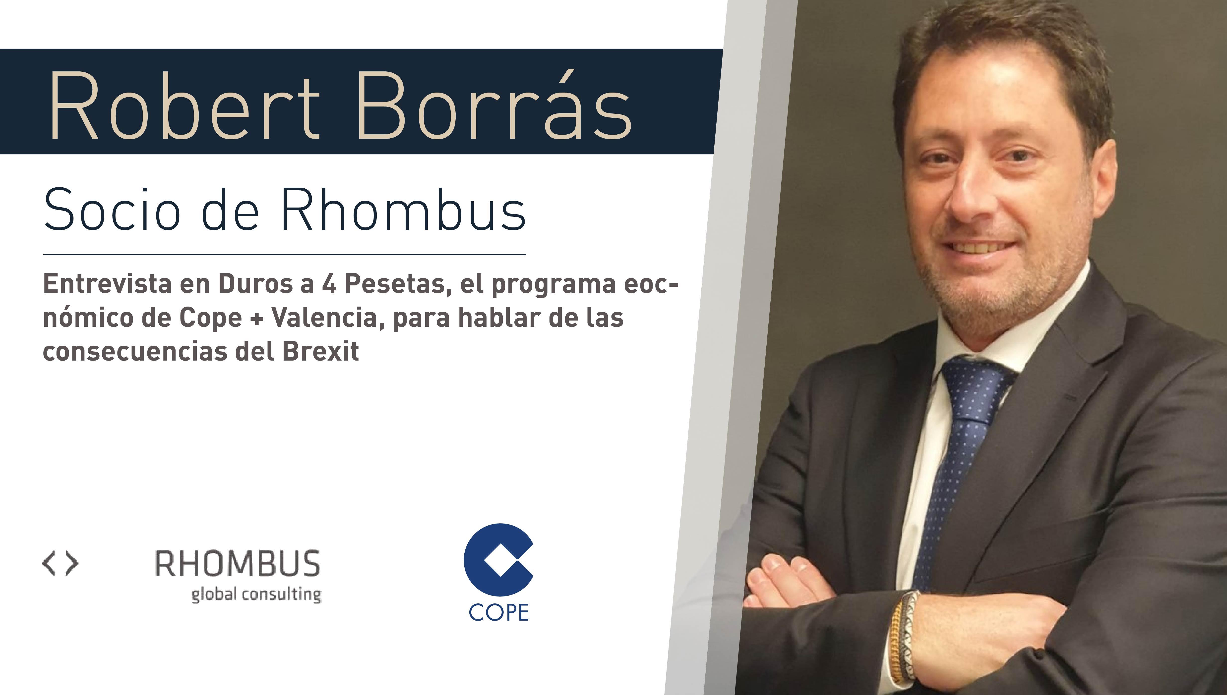 Entrevista a Robert Borrás, socio de Rhombus Global Consulting en Duros a 4 Pesetas