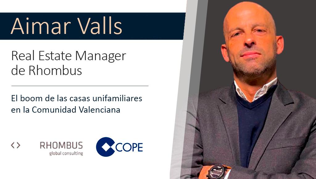 Aimar Valls en COPE: El boom de las casas unifamiliares en la Comunidad Valenciana