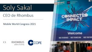 Soly Sakal, CEO de Rhombus, valora el Mobile World Congress 2021 en COPE
